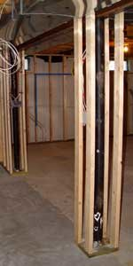 how to frame basement poles to help when framing basement