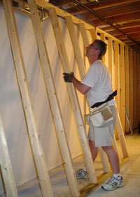 How To Frame A Basement Wall wondering how to frame a wall? this section will provide basic