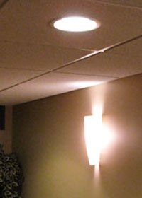 basement lighting is critical to setting the mood in your new finished