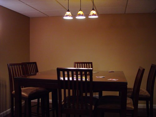 subdued lighting candles burning the pub height gathering table in subdued lighting basement home theater photo gallery