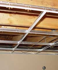 Drop Ceiling Installation Acoustic Tile Grid