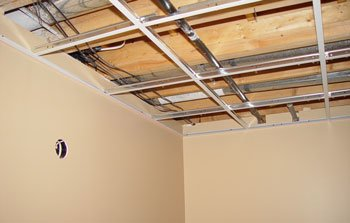 Acoustic Tile Drop Ceiling Installation